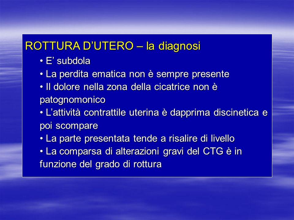 ROTTURA D'UTERO – la diagnosi