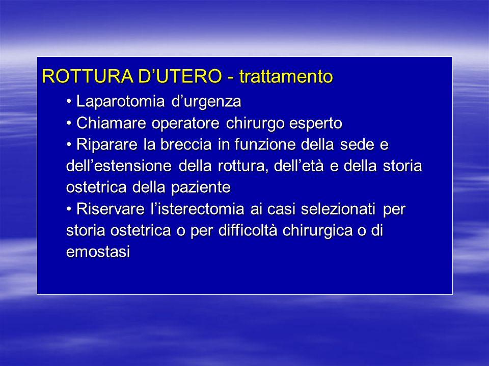ROTTURA D'UTERO - trattamento