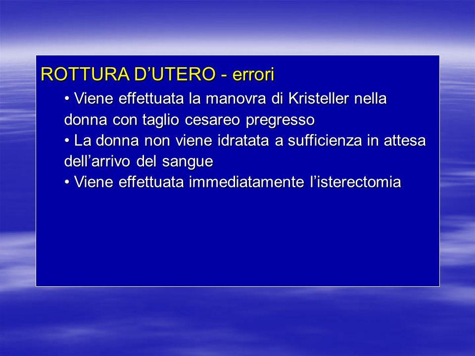 ROTTURA D'UTERO - errori