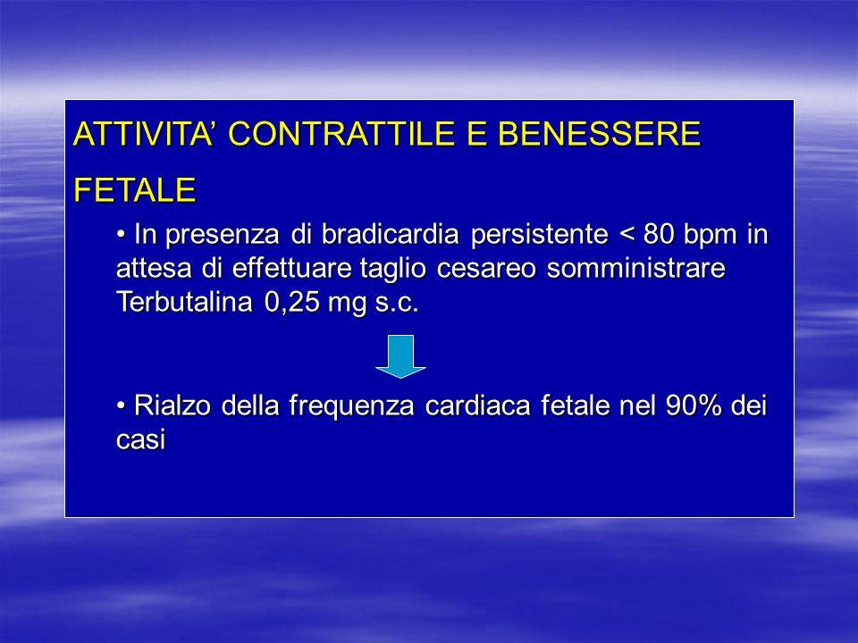 ATTIVITA' CONTRATTILE E BENESSERE FETALE