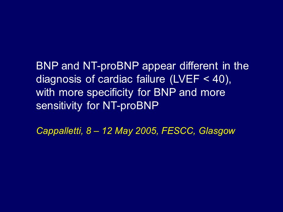 BNP and NT-proBNP appear different in the