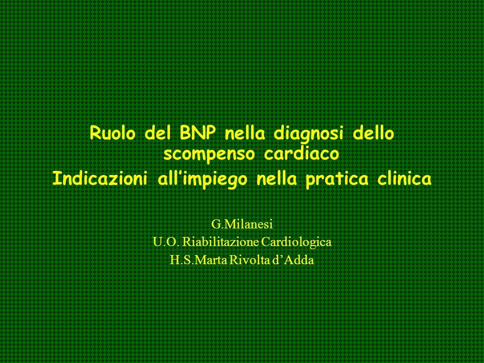 Ruolo del BNP nella diagnosi dello scompenso cardiaco