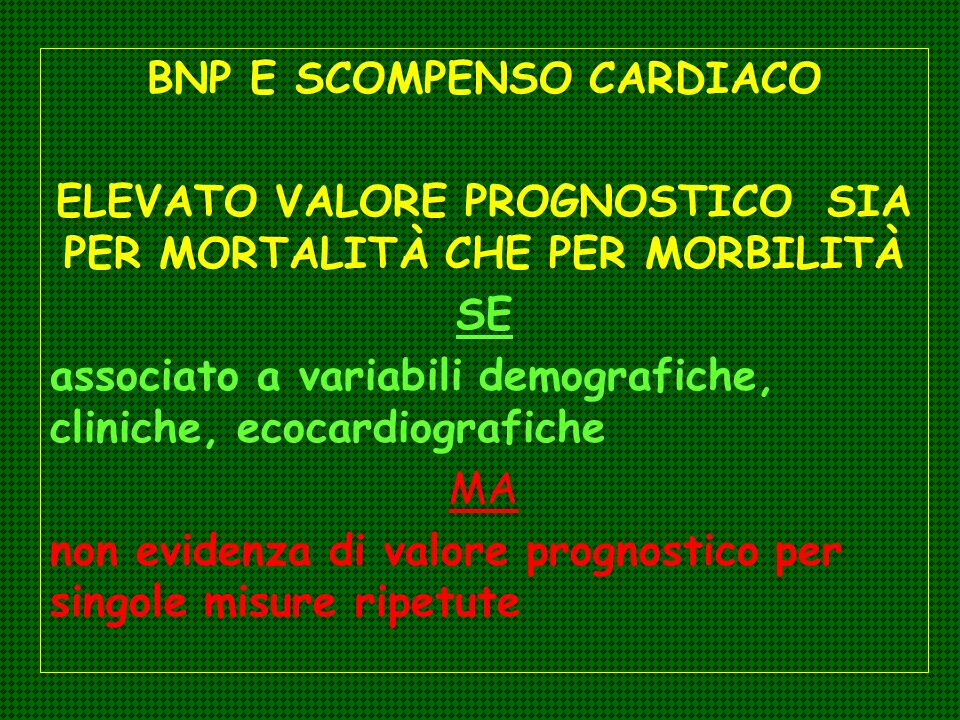 BNP E SCOMPENSO CARDIACO