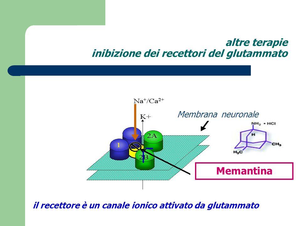 altre terapie inibizione dei recettori del glutammato