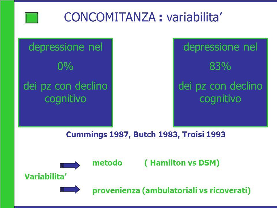 CONCOMITANZA : variabilita'