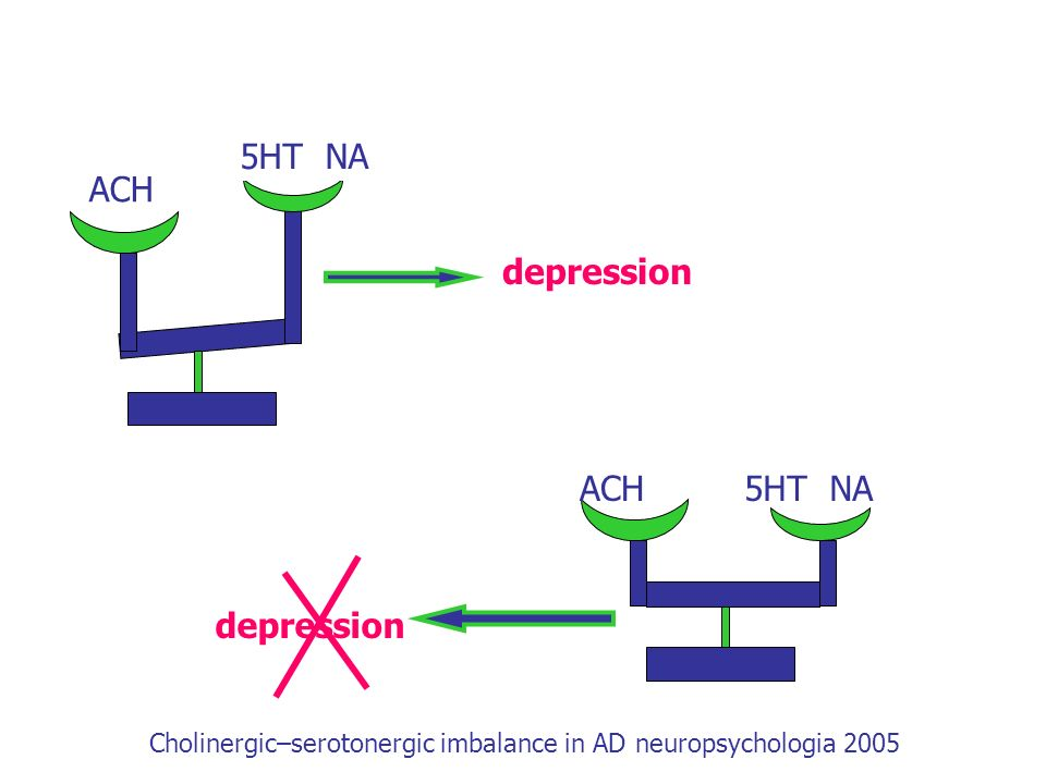 Cholinergic–serotonergic imbalance in AD neuropsychologia 2005