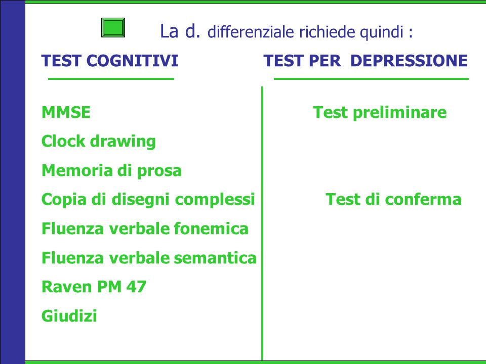 La d. differenziale richiede quindi :
