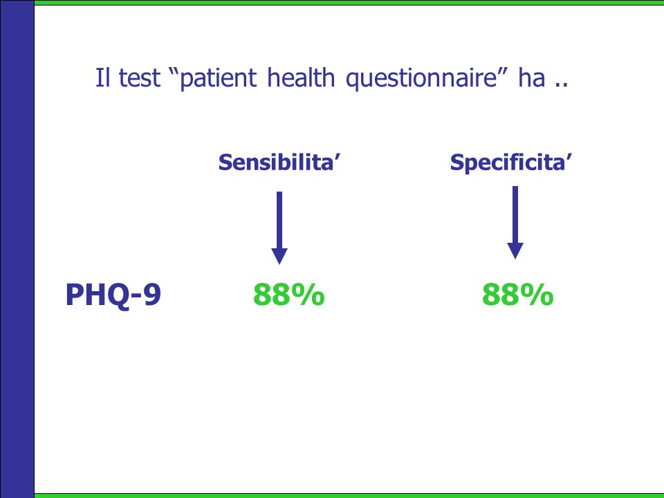 Il test patient health questionnaire ha ..