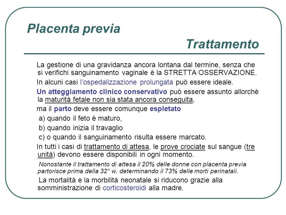 Placenta previa Trattamento