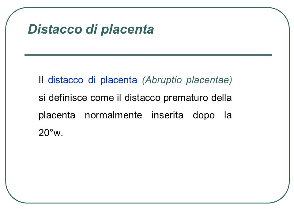 Distacco di placenta