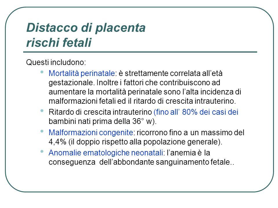 Distacco di placenta rischi fetali
