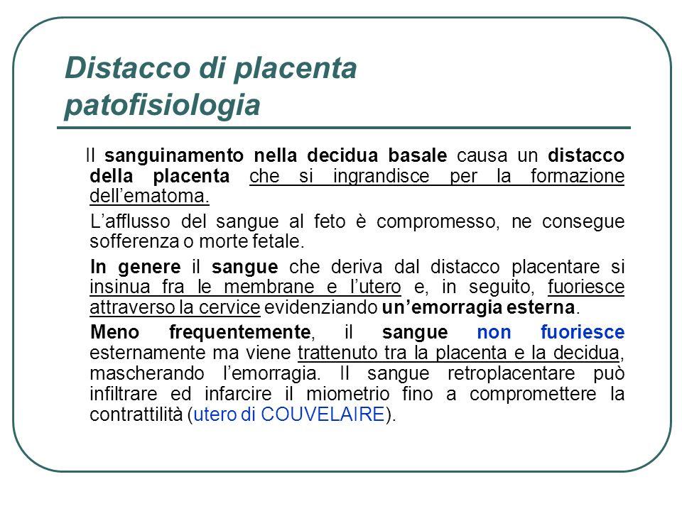 Distacco di placenta patofisiologia