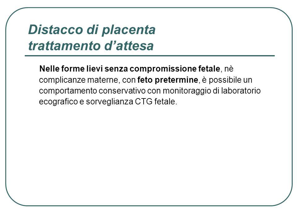 Distacco di placenta trattamento d'attesa
