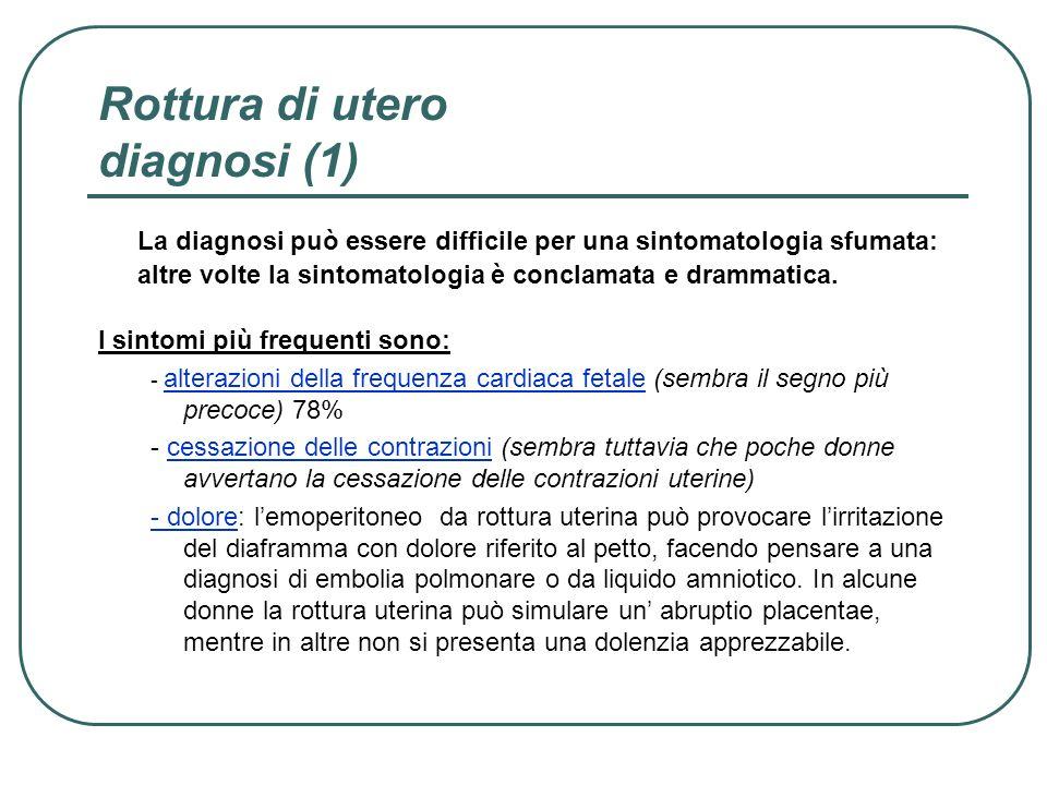 Rottura di utero diagnosi (1)