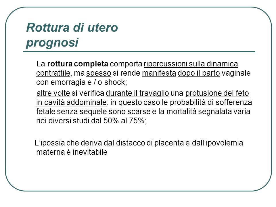 Rottura di utero prognosi