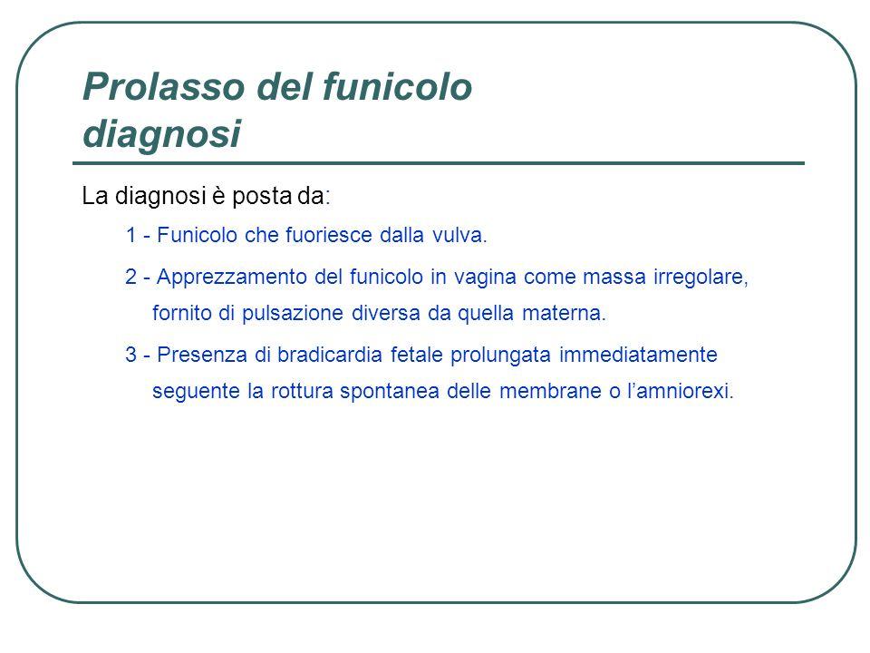 Prolasso del funicolo diagnosi