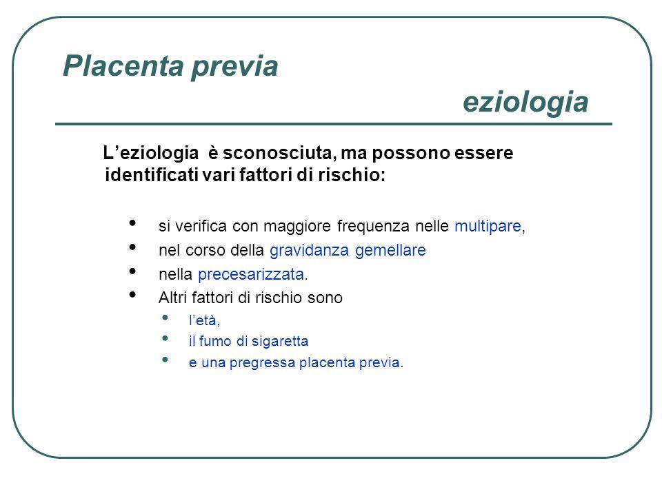 Placenta previa eziologia