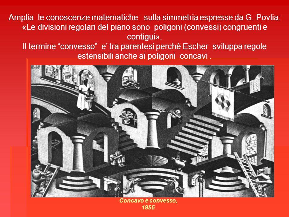 Amplia le conoscenze matematiche sulla simmetria espresse da G. Povlia: