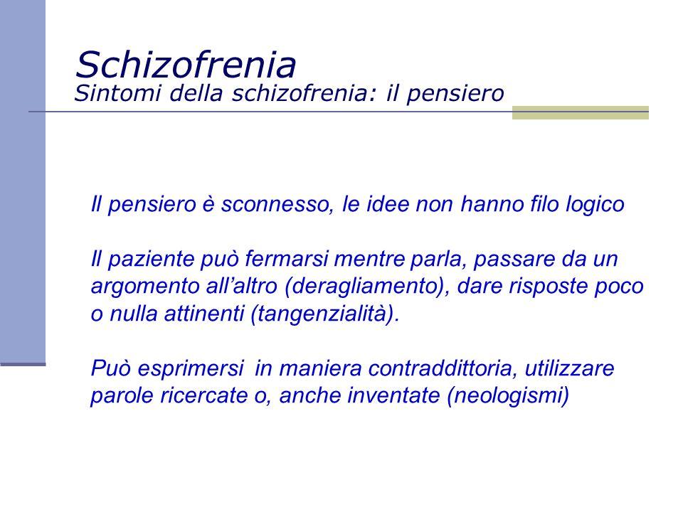 Sintomi della schizofrenia: il pensiero