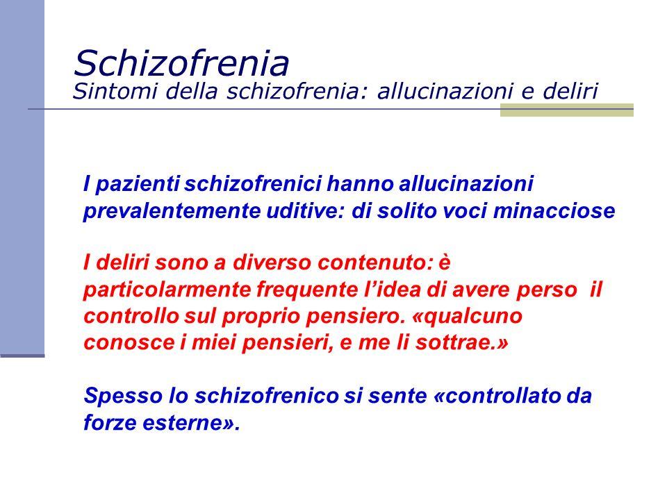 Sintomi della schizofrenia: allucinazioni e deliri