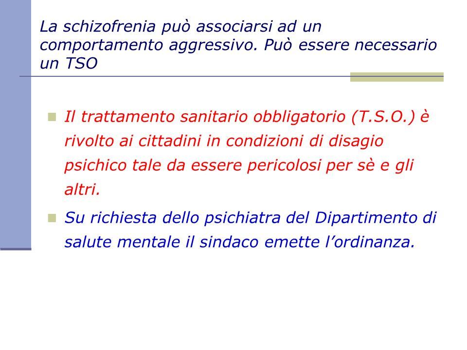 La schizofrenia può associarsi ad un comportamento aggressivo