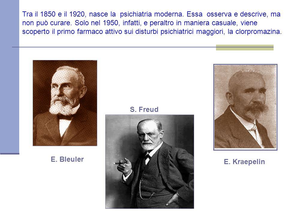 Tra il 1850 e il 1920, nasce la psichiatria moderna