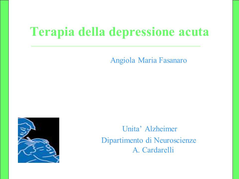 Terapia della depressione acuta