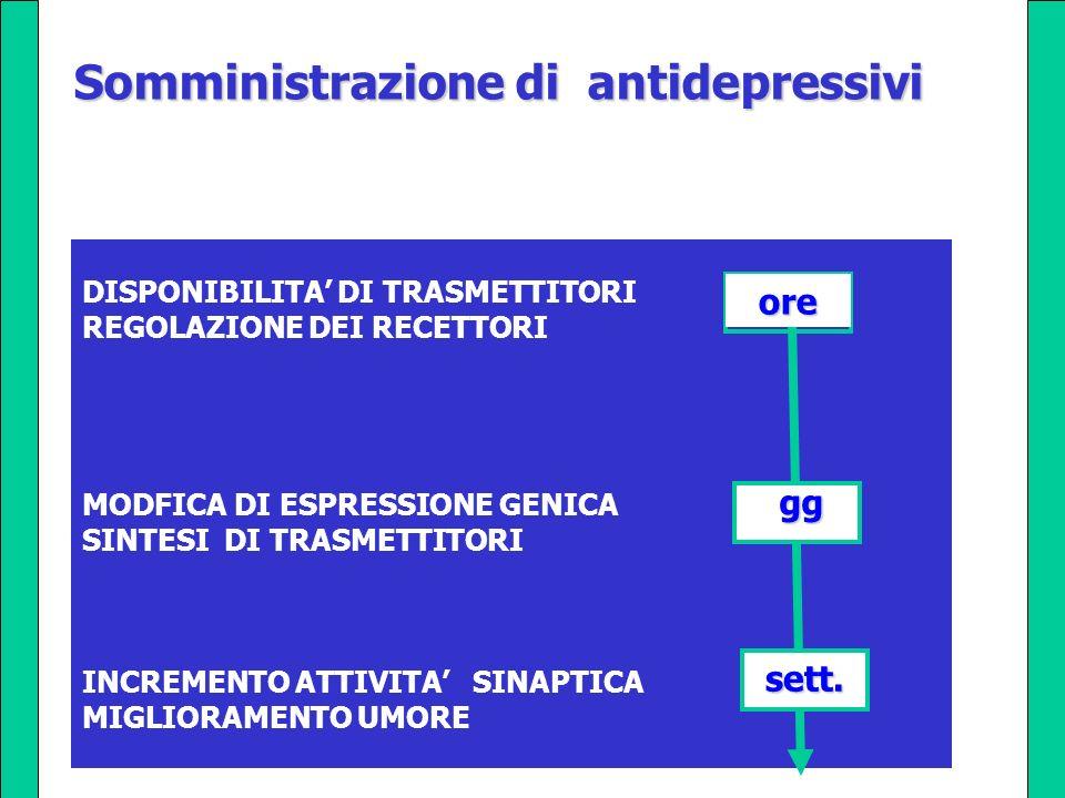Somministrazione di antidepressivi