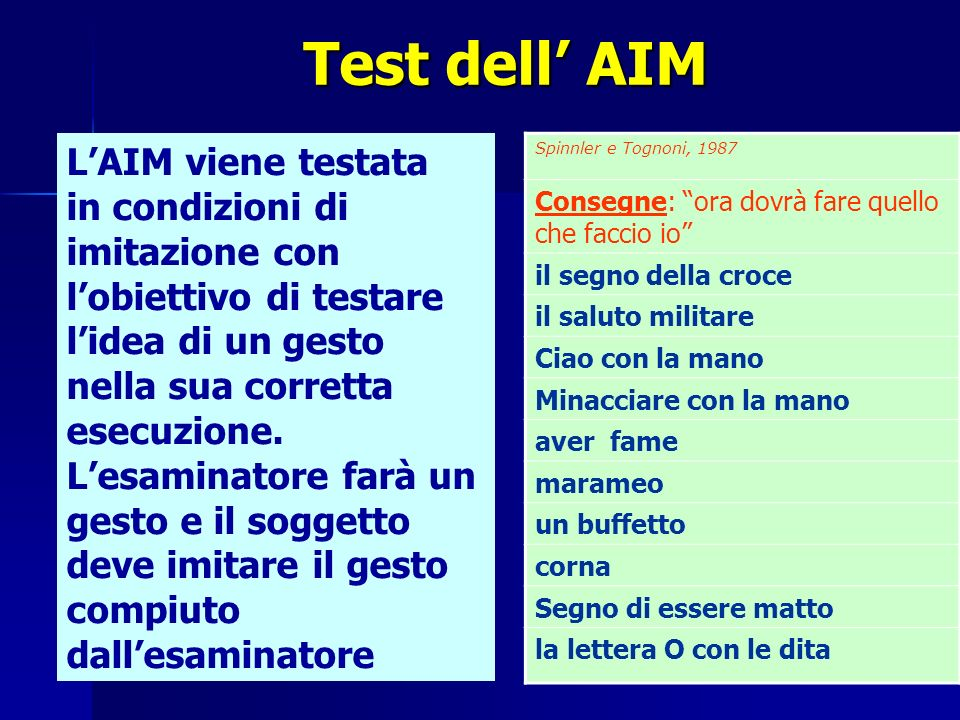 Test dell' AIM