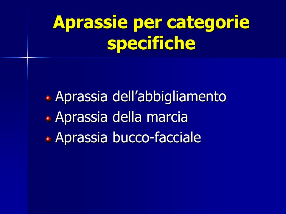 Aprassie per categorie specifiche