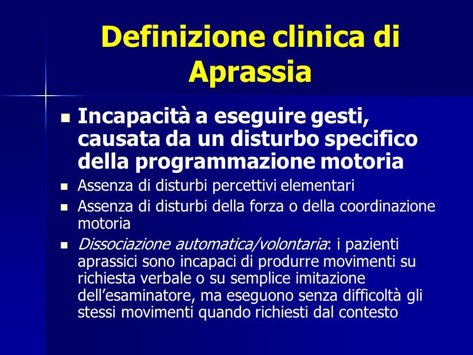 Definizione clinica di Aprassia
