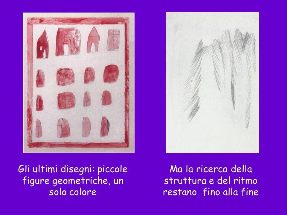 Gli ultimi disegni: piccole figure geometriche, un solo colore