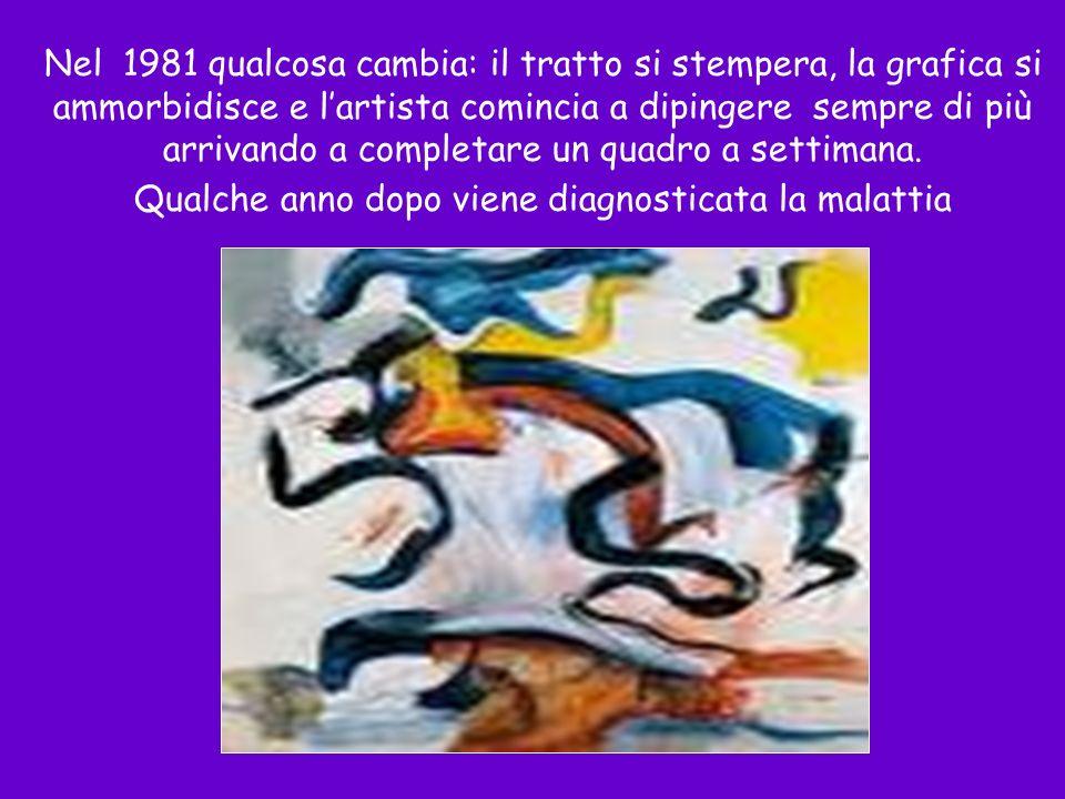 Nel 1981 qualcosa cambia: il tratto si stempera, la grafica si ammorbidisce e l'artista comincia a dipingere sempre di più arrivando a completare un quadro a settimana.