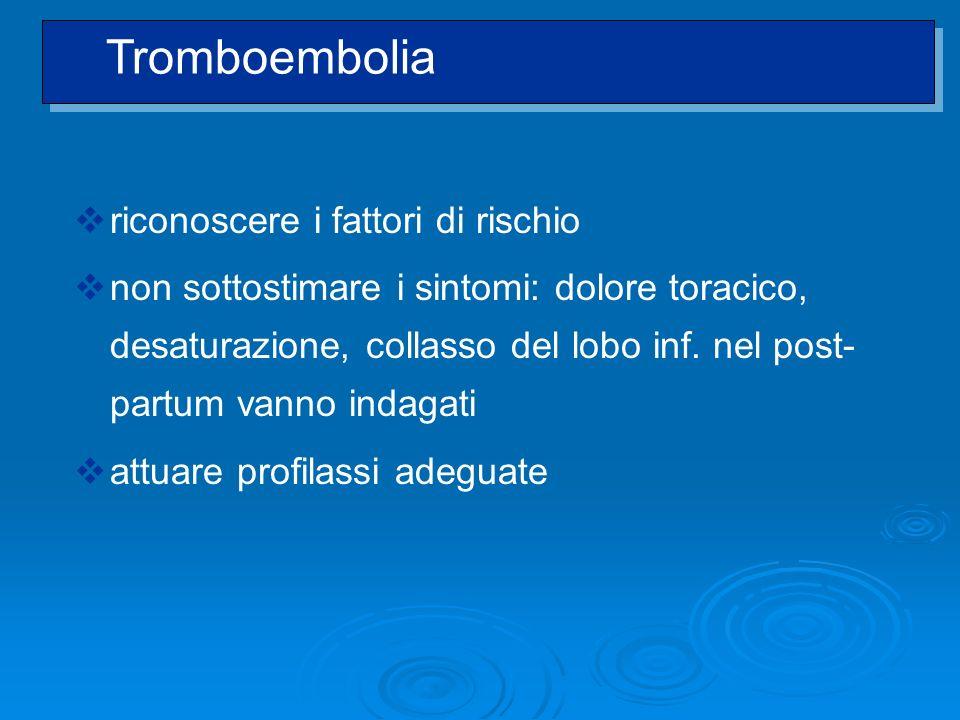 Tromboembolia riconoscere i fattori di rischio