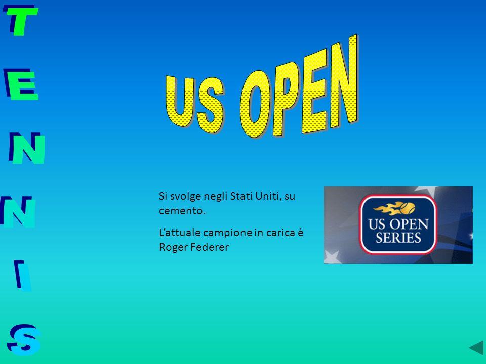US OPEN TENNIS Si svolge negli Stati Uniti, su cemento.