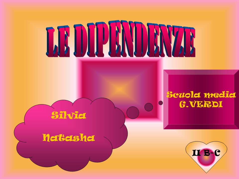 LE DIPENDENZE Scuola media G.VERDI Silvia Natasha II B-C