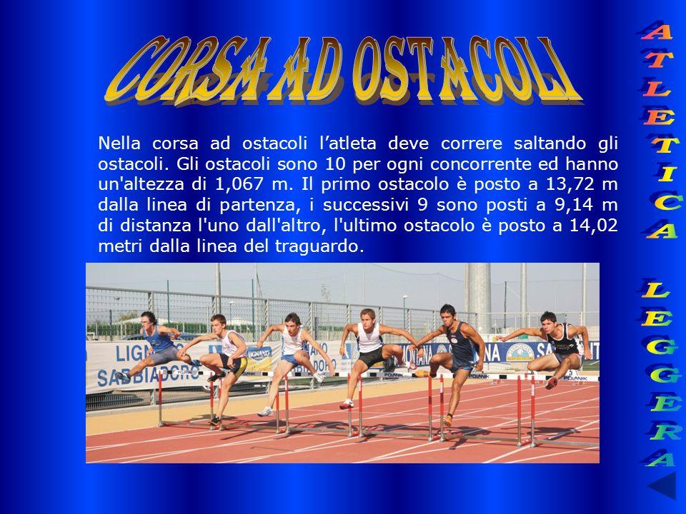 CORSA AD OSTACOLI ATLETICA LEGGERA