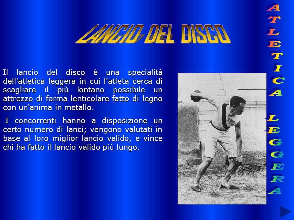 LANCIO DEL DISCO ATLETICA LEGGERA