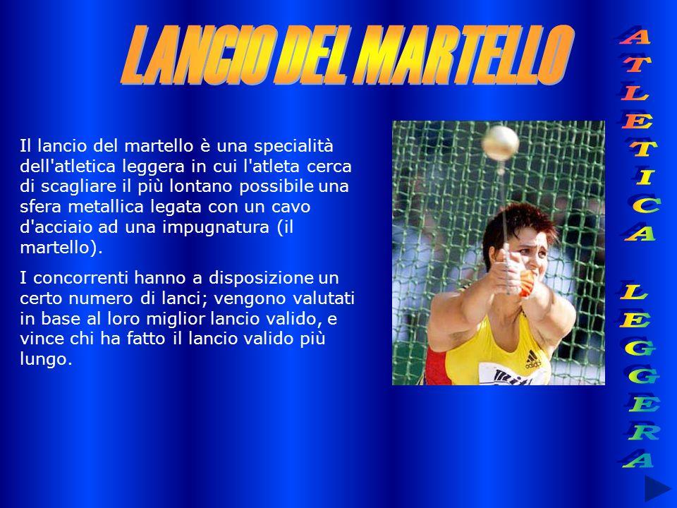 LANCIO DEL MARTELLO ATLETICA LEGGERA
