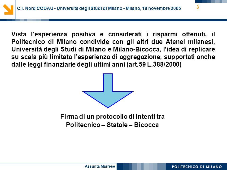 Firma di un protocollo di intenti tra Politecnico – Statale – Bicocca