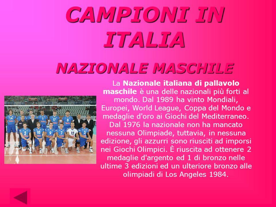 CAMPIONI IN ITALIA NAZIONALE MASCHILE