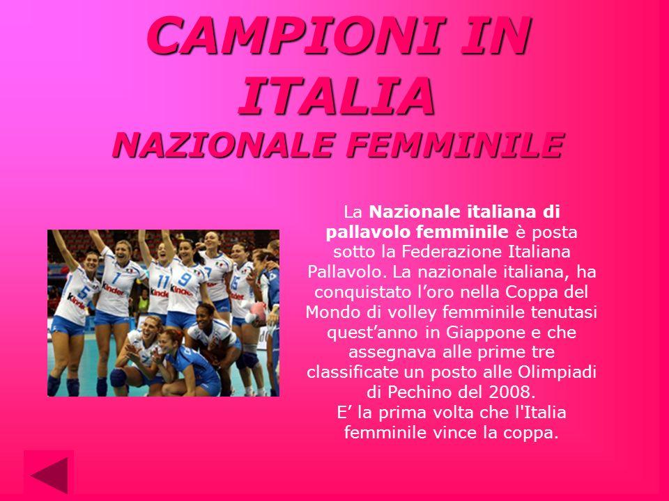 CAMPIONI IN ITALIA NAZIONALE FEMMINILE