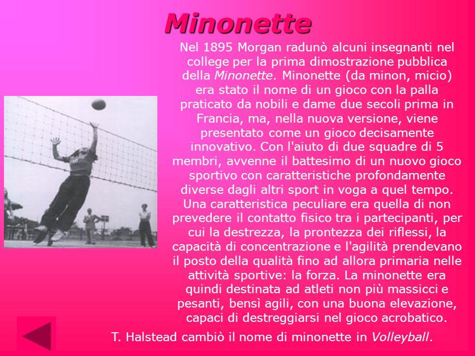 T. Halstead cambiò il nome di minonette in Volleyball.