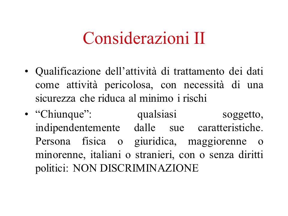 Considerazioni II