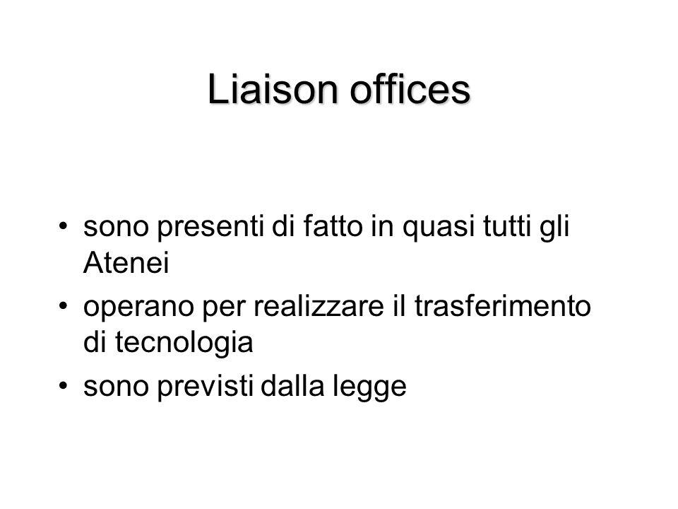 Liaison offices sono presenti di fatto in quasi tutti gli Atenei