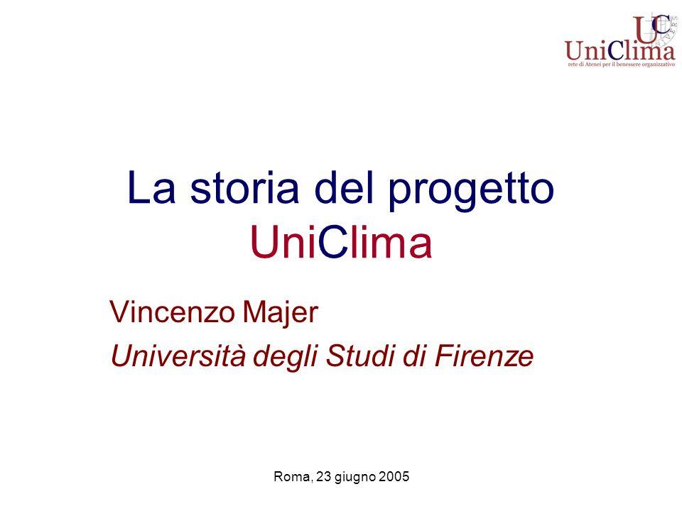 La storia del progetto UniClima