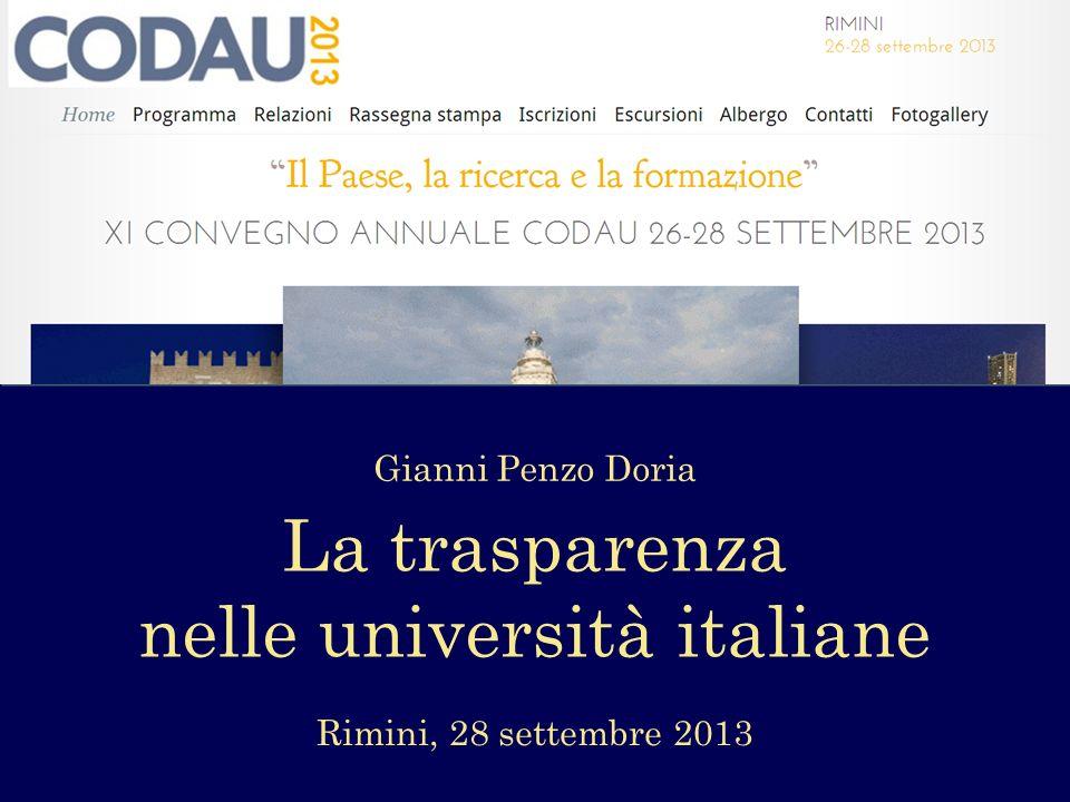 nelle università italiane