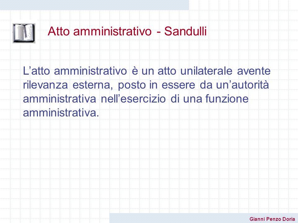 Atto amministrativo - Sandulli