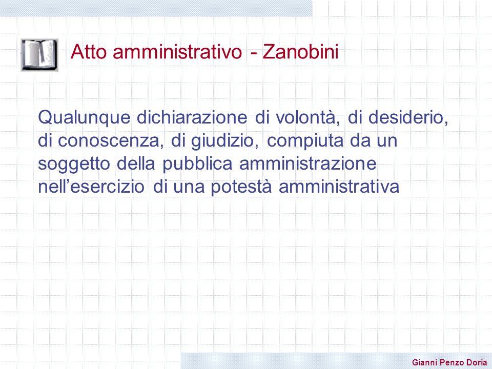 Atto amministrativo - Zanobini
