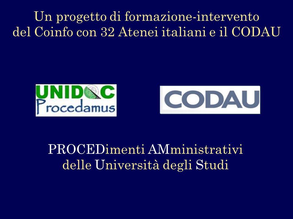 PROCEDimenti AMministrativi delle Università degli Studi